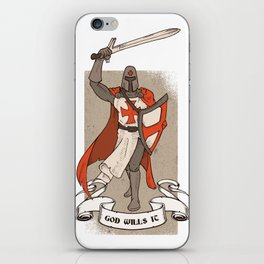 Knight Templar with Sword in Hand iPhone Skin