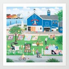 Dockside Bears Art Print