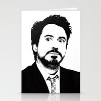 robert downey jr Stationery Cards featuring Robert Downey Jr. by ItalianBrush