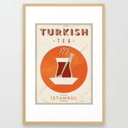 Vintage Turkish Tea Poster Framed Art Print