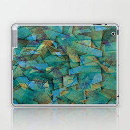 Fragments In blue - Abstract, fragmented art in blue Laptop & iPad Skin