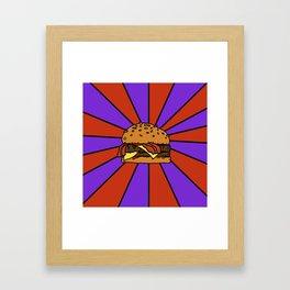 The Burger  Framed Art Print