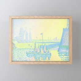 "Paul Signac ""Evening (The Jetty of Vlissingen) (Abend-La jetée de Flessingue)"" from the journal Pan Framed Mini Art Print"