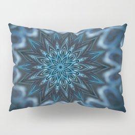 Blue Ice Swirl mandala Pillow Sham