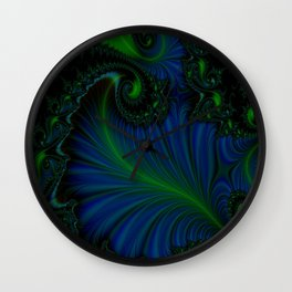 Fern Bleu Wall Clock