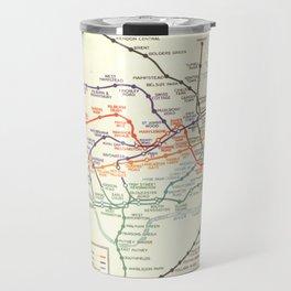 Vintage London Underground Map Travel Mug