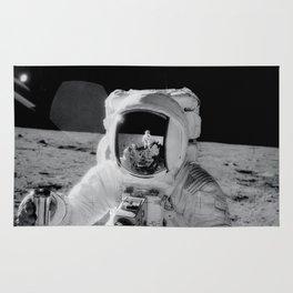 Apollo 12 - Face Of An Astronaut Rug