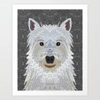 westie Art Prints featuring Westie by ArtLovePassion