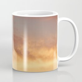Palm Tree Silhouette over a Sunset with Slight Double Exposure & Filter - Calm, Soft, Warm Coloring Coffee Mug