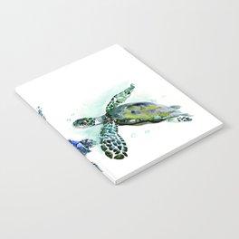 Sea Turtle Family, family art Notebook