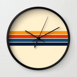 Classic Retro Stripes Wall Clock