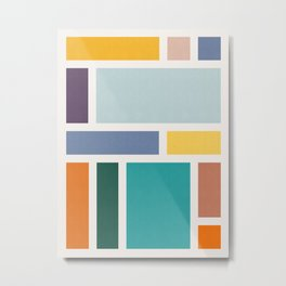 Colored composition Metal Print