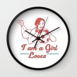 I am a girl that loves soccer Wall Clock