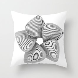 Bio Flower Art Print Throw Pillow