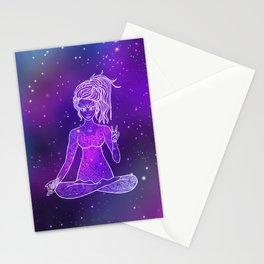 Card Yoga girl Stationery Cards