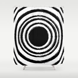 Painted Circles Shower Curtain