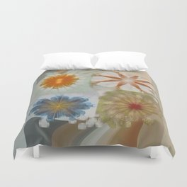 Fulvous Certainty Flowers  ID:16165-113635-96480 Duvet Cover