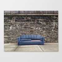 sofa Canvas Prints featuring sofa free by danielle marie