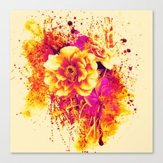 splash flowers Canvas Print