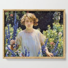 Charles Courtney Curran - Betty Gallowhur - Digital Remastered Edition Serving Tray