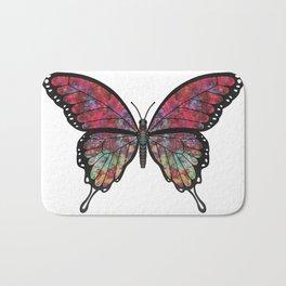 psychedelic Miranda (Mirandus psykhedelos) fantasy butterfly Bath Mat