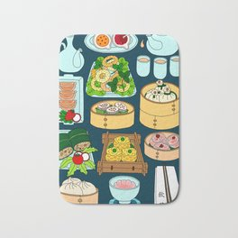 Dim Sum Lunch Bath Mat