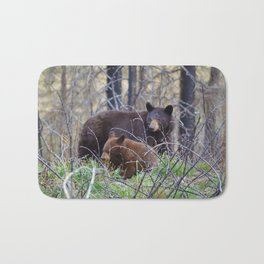 Sow & cub in Jasper National Park | Canada Bath Mat