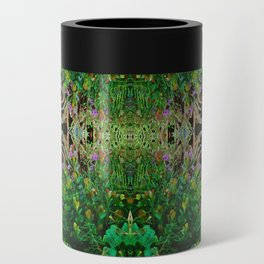 Cocoplum and Cattails op nature pattern Can Cooler