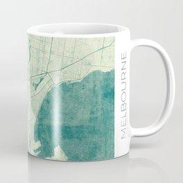 Melbourne Map Blue Vintage Coffee Mug