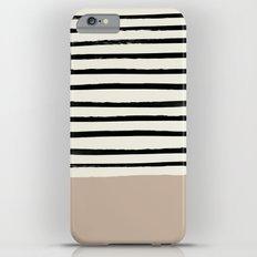 Latte & Stripes iPhone 6s Plus Slim Case