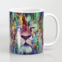 lion Mugs featuring Lion by nicebleed