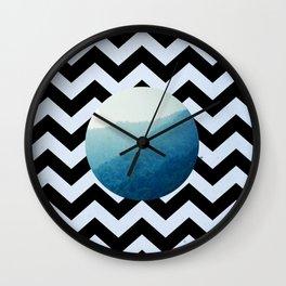 Chevron Valley Wall Clock