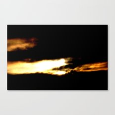 Dragon in a clouds. Canvas Print