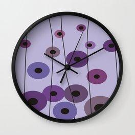 Contemporary Purple Circles Wall Clock