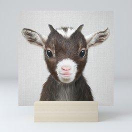 Baby Goat - Colorful Mini Art Print