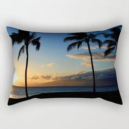 Alii Kahekili Nui Ahumanu Beach Maui Hawaii Sunset Kaanapali Rectangular Pillow