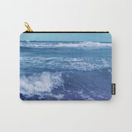 Blue Atlantic Ocean White Cap Waves Clouds in Sky Photograph Carry-All Pouch