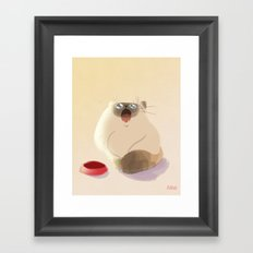 Poor Starving Baby Framed Art Print
