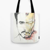 ironman Tote Bags featuring Ironman by Dave Seedhouse.com