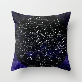 Celestial Map - Northern Hemisphere  Throw Pillow
