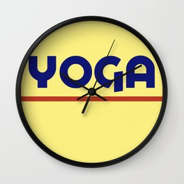 YOGA - ADOBO Wall Clock