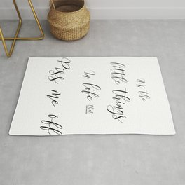 It's the Little Things In Life Quote Rug