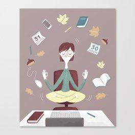 Yoga time Canvas Print
