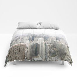 Cloudy Chicago Comforters