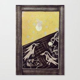 Birds of the moon Canvas Print