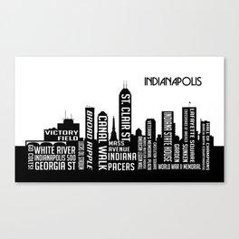 Skyline Indianapolis Canvas Print
