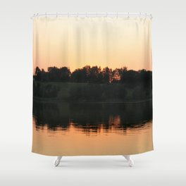 Summer sunset over the lake | Landscape photography Shower Curtain