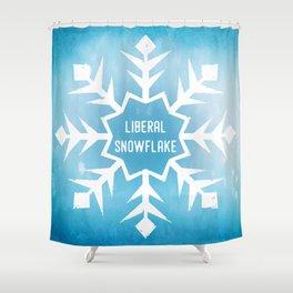 Liberal Snowflake Shower Curtain