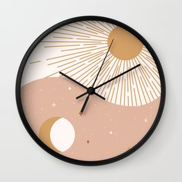 Yin Yang Blush - Sun & Moon Wall Clock