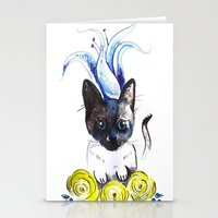 mew Stationery Cards featuring Lily Mew by Sarah